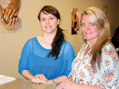 Billie-Jo Hamilton (left) and Katie Fontaine are partners in Blush and Company, a new esthetics salon in Headingley.