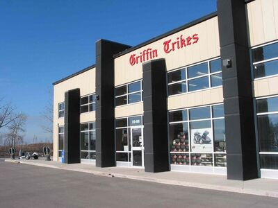 Griffin Trikes, run by Tim and Josh Kapitan, recently celebrated four years in business and one year at their current location at 310-400 Fort Whyte Way next to McGillivray Boulevard.