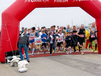 Over 400 people lined up to start the annual run/walk in Headingley on May 25.