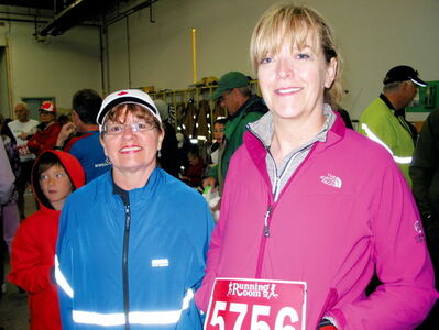 Local residents Kim Bartlett (left) and Pat Grierson have made participating in the Headingley Fire Department  Run/Walk for Wishes an annual tradition.