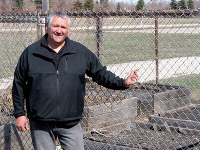 PRSD career and technology studies co-ordinator Nick Verras said this year's late spring has delayed planting in the school garden at St. Paul's Collegiate.