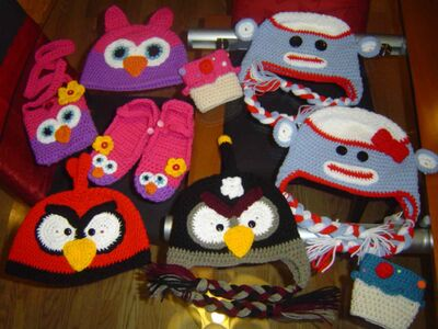Angry Birds and sock monkeys are popular designs for Ducharme's creations.
