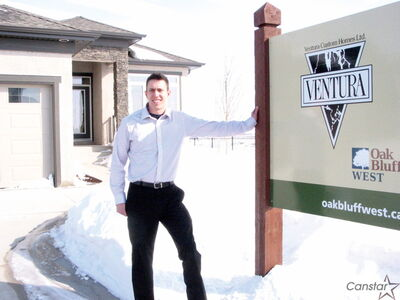 Elliot Tardiff of Trinkl Realty displayed one of the show homes in Oak Bluff West during the recent Parade of Homes.