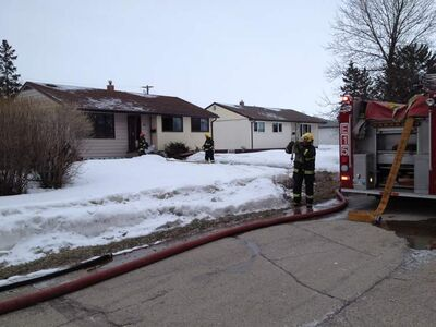 Firefighters put out a fire at a home on Bernier Bay this morning.