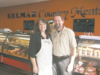 Kelly and MaryAnn Penner who recently opened Kelmar Country Meats and Deli on Headmaster Row.