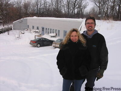 Cam and Lisa Cleaver and their 2,500-square-foot underground house Cam built into the Manitoba escarpment south of MacGregor.