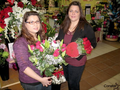 Petals by S&A Inc. owners Antoinetta Buscemi and Sabyna Sawka show off some of the flora for sale at the Garden City Shopping Centre flower shop. Like florists all around the city, the pair are gearing up for the Valentine's Day rush.