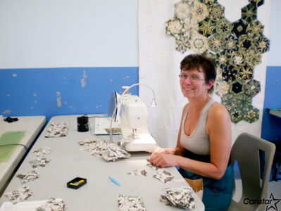 Instructor Mary Backhaus provided members of the Riverview Quilting Group with some helpful tips.