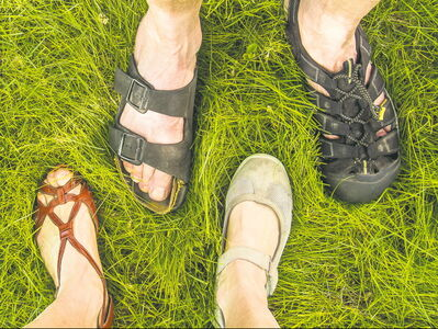 People are and will be baring their feet in all kinds of sandaled footwear this spring and summer.