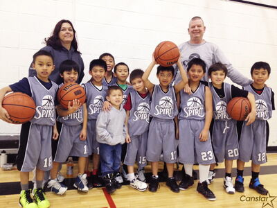 Sandra and Red Ducharme are happy to coach their eight-year-old grandson's team, Winnipeg Spirit, in the PBA.