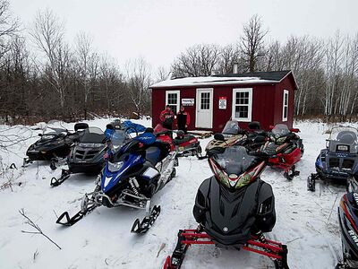 A new Headingley warm-up shelter (above) was recently opened on the CCSD snowmobile trail.