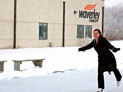 Last winter, staff and worshippers at Waverley Church created a skating rink right next to its building.