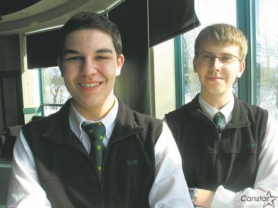 Peirce Dickson and Ryan Sherbo are headed to the World Individual Debating and Public Speaking Championships in Durban, South Africa next month.