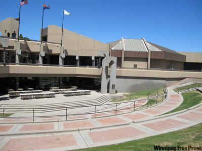 The city council gallery in Glendale, AZ, where the seven-member council votes Tuesday night on a proposal to allow city manager De Beasley to satisfy all the NHL's requirements to keep the Phoenix Coyotes in Arizona for the 2010-11 season.