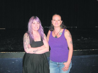 West End Cultural Centre community outreach co-ordinator Kerri Stephens (left) and renowned singer-songwriter Lindsey White partner to bring back Play and Record: Summer Rock Band Class for youth in the West End. Internationally celebrated musician Matt Epp is also helping teach the camp at the WECC.