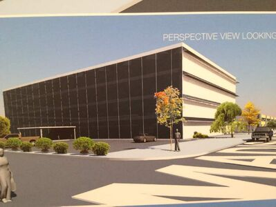 Plans call for a four-storey office building to be built on the site in the next few years.