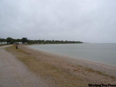 Margaret Bruce park includes a privately operated campground and beach.
