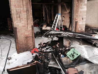 The fire destroyed five lawnmowers, which the charity is trying to replace.