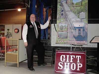 Daryl Adair of Rail Travel Tours is organizing a rail tour of an old Canadian Northern Railway route around Manitoba and Saskatchewan's Parkland. (SHELDON BIRNIE/CANSTAR COMMUNITY  NEWS/THE HERALD)