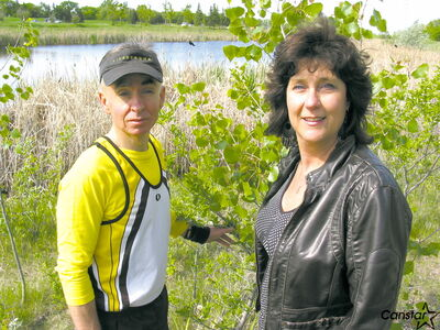 Richard Kish and Michelle Meade are looking forward to the Bishop Grandin Greenway being a destination for visitors on International Trails Day.