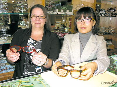 Janet Metcalfe (left) and A Young Kim at Eye Define Optical on St. Mary's Road.