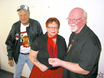 From left to right: Barry Green, Deanna Sidof and Bob Sidof are preparing to strut their stuff on May 4 at the Forever Young Club's annual fundraiser.