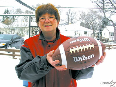 Karen Mundey said playing for the St. Vital Mustangs helps young men develop both as sportsmen and individuals.