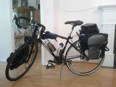 Anas Cheema's bicycle was stolen on Wednesday night in the 800 block of Leila Avenue.