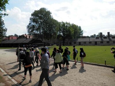 Participants in the 2013 tour of Holocaust sites are shown.