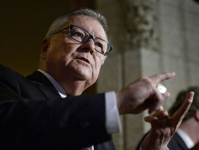 JUSTIN TANG / THE CANADIAN PRESS</p><p>Minister of Public Safety and Emergency Preparedness Ralph Goodale says crossing into Canada does not guarantee anyone will be able to stay here.</p>