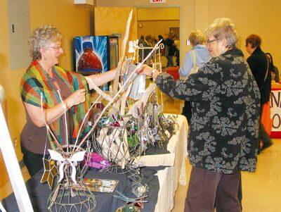About 1,300 shoppers attended the 2012 Headingley Arts and Craft Sale in the Headingley Community Centre.