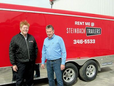 Steinbach Trailers' John Penner and Dennis Friesen.