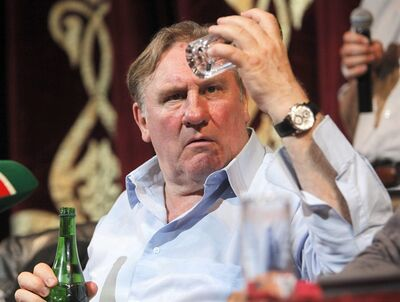 French actor Gerard Depardieu announced his plans to star in a drama about a Chechen man investigating and avenging the death of his son in Moscow. (AP Photo/Musa Sadulayev)