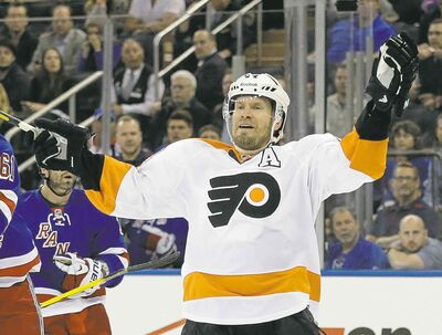 Seth Wenig / the associated press filesFlyers defenceman Kimmo Timonen is recovering in Finland after blood clots were found in both of his lungs and right calf.