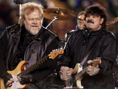Randy Bachman (left) and Burton Cummings of The Guess Who.(Aaron Harris / The Canadian Press)