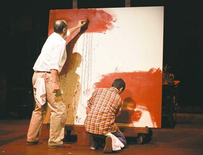 Oliver Becker, left, as Mark Rothko and Jameson Matthew Parker as Ken in Red.