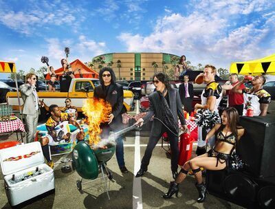 Kiss's Gene Simmons and Paul Stanley bring a sense of spectacle to their latest venture: arena football.