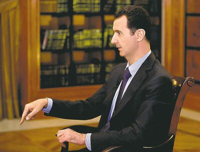 Syrian President Bashar Assad's military is busy with the civil war.