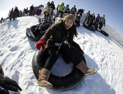 Desiree Carbonell and other young Filipino immigrants enjoy a day at the Festival du Voyageur.