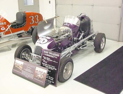 This 1945 Hillegass Midget racecar was once raced on dirt, asphalt and even wooden board tracks.