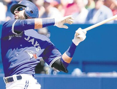 Jays right-fielder Jose Bautista.