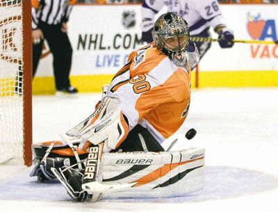 Tom Mihalek / The Associated Press archivesGoaltender Ilya Bryzgalov, termed a �costly mistake� by his previous employers in Philly, will take his pads north and try to stop the occasional puck guarding the Edmonton Oilers� goal.
