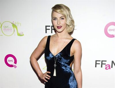 "FILE - This Oct. 1, 2013 file photo shows actress Julianne Hough at the 20th Annual ""FFANY Shoes on Sale"" Gala presented by QVC and FFANY in New York. Hough apologized on Twitter amid criticism for darkening her skin for a costume as Crazy Eyes from ""Orange is the New Black"" at a Hollywood bash. (Photo by Charles Sykes/Invision/AP, File)"