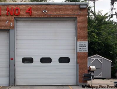 The Osborne Street fire hall while he was on duty.
