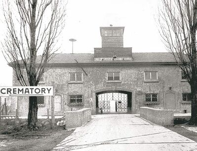 THE ASSOCIATED PRESS ARCHIVESThousands passed though the main entrance to the Dachau concentration camp, never to emerge again.