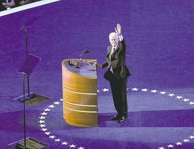 Former president Bill Clinton speaks at 2012 Democratic convention.
