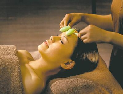 the Ritz-Carlton Hotel CompanyThe Jade Stone Treatment is a signature treatment of the new ESPA at The Ritz-Carlton, Hong Kong, at 465 metres, the highest-elevation spa in the world.