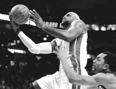 Robert Duyos / Sun Sentinel / MCT archivesMiami�s LeBron James, going up in last Sunday�s home game against the Bobcats, says playing the Spurs is a chance to get better.
