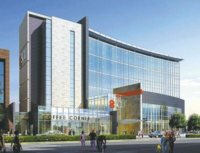 Steinbach Credit Union's head office, in an artist's rendering, to open in 2015.