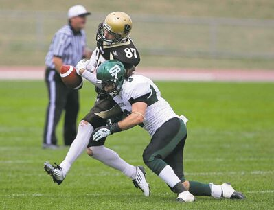 Manitoba Bisons receiver Danny Turek (87) says there's no point in cheating.